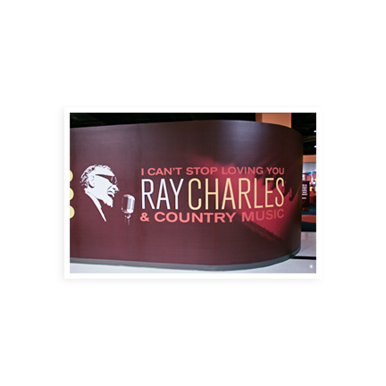 Country Music Hall of Fame Ray Charles exhibit
