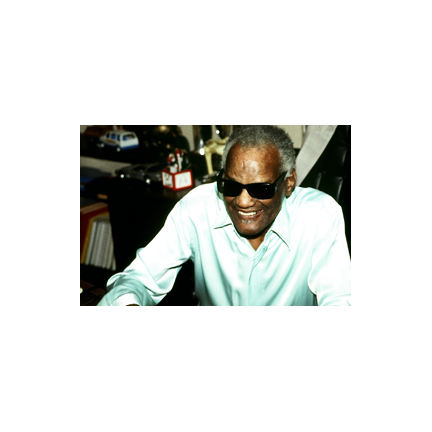 Ray Charles in his office