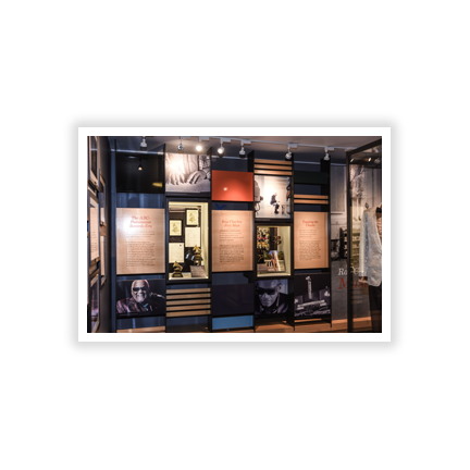 Ray Charles Memorial Library Artifact Display Case