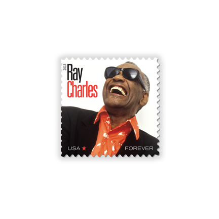 Ray Charles Postage Stamp